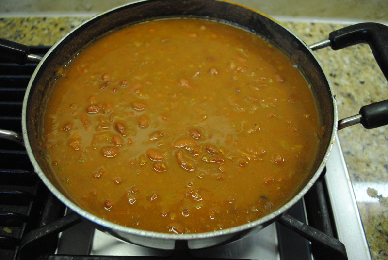 Rajma Curry - Red Kidney Beans - Finished