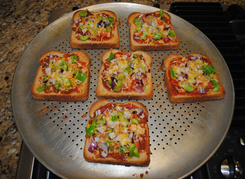 Veggie Cheese Bread Cheese Melted