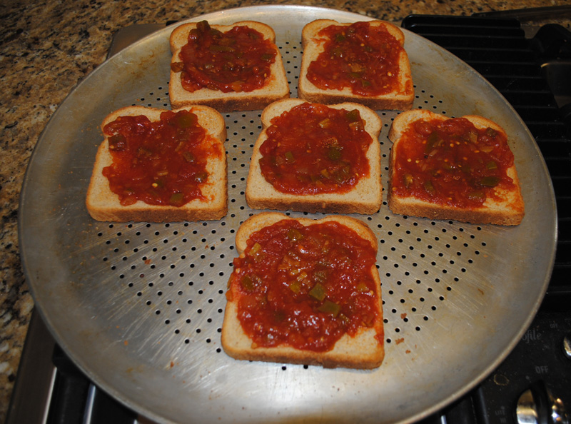 Veggie Cheese Bread Spread Salsa