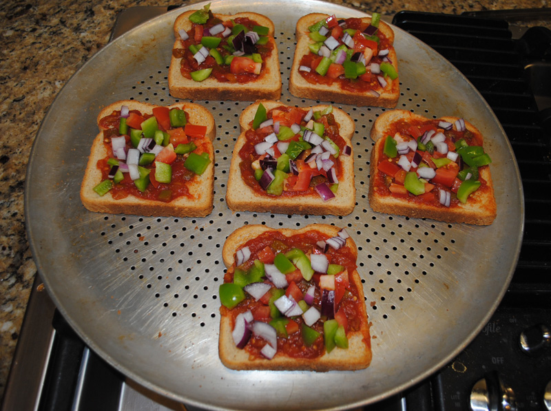Veggie Cheese Bread Toppings