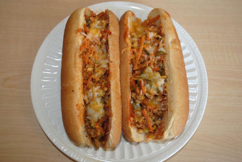 veggie hot dogs ready