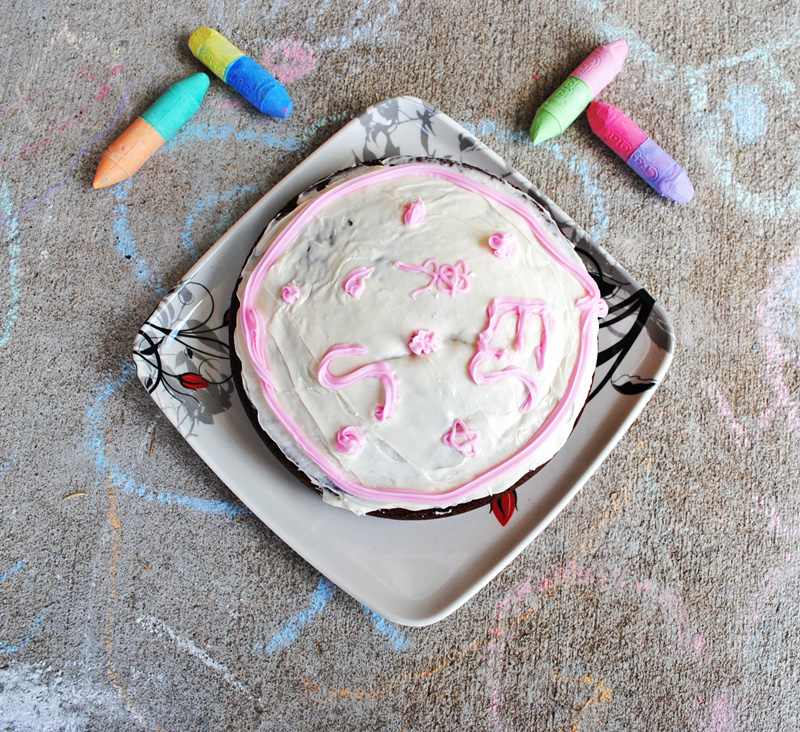 Summer Baking with Kids Chocolate Cake with Vanilla Frosting   Recipe Treasure