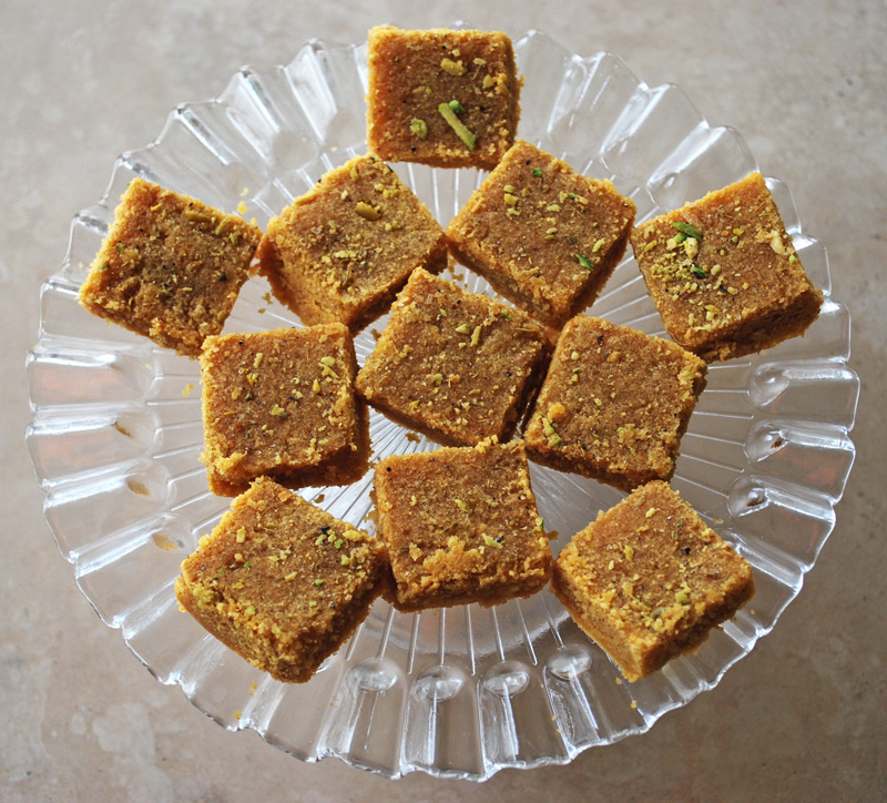 Besan Barfi - Gram Flour Sweet | Recipe Treasure