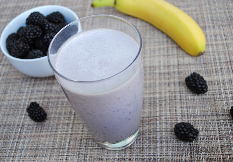 Blackberry-Banana Protein Shake | Recipe Treasure