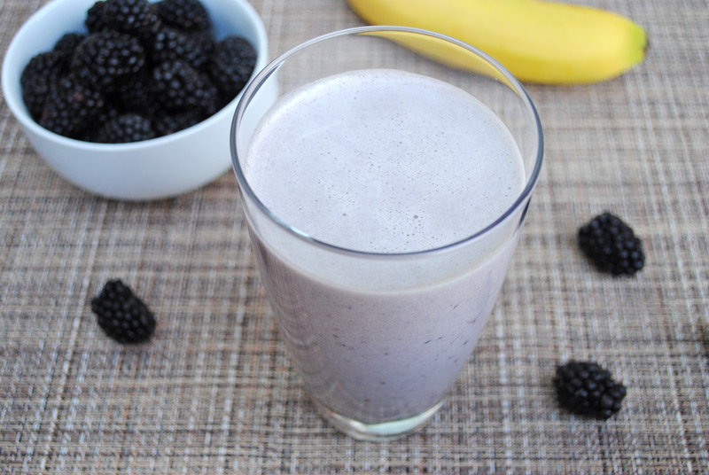 Blackberry-Banana Protein Shake | Recipe Treasure
