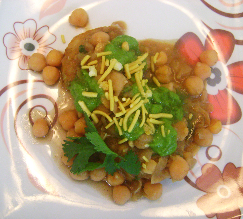 Chole Chaat with Potato Patties | Recipe Treasure