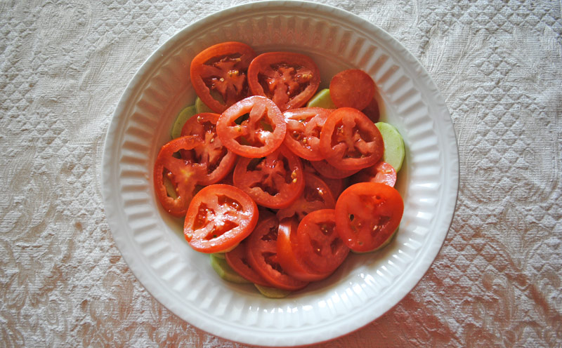Cucumber Salad with Tomatoes and Onion - Tomatoes | Recipe Treasure