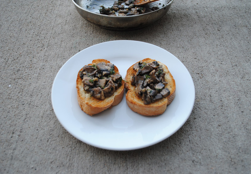 Mushroom-Garlic Toast | Recipe Treasure