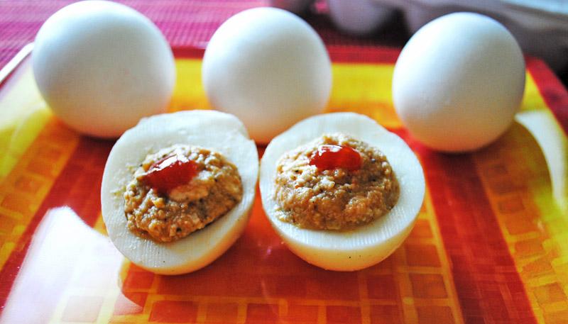 Paneer-Stuffed Hard-Boiled Eggs Recipe - Recipe Treasure