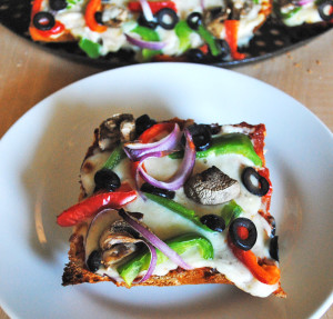 Veggie Lover's French Bread Pizza | Recipe Treasure