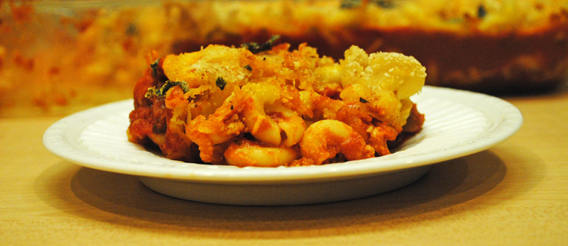 Baked Macaroni and Cheese with Tomato Sauce | Recipe Treasure