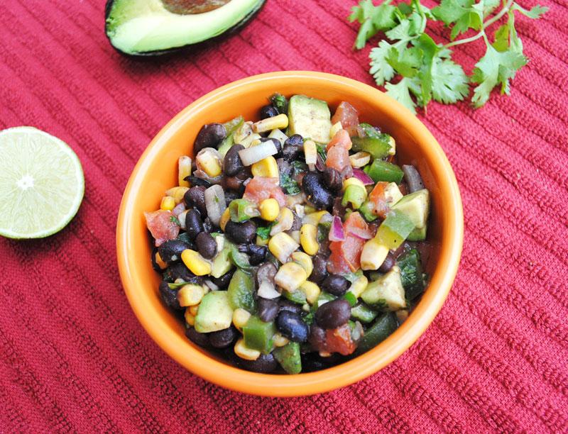 Black Bean and Corn Salad with Avocado | Recipe Treasure