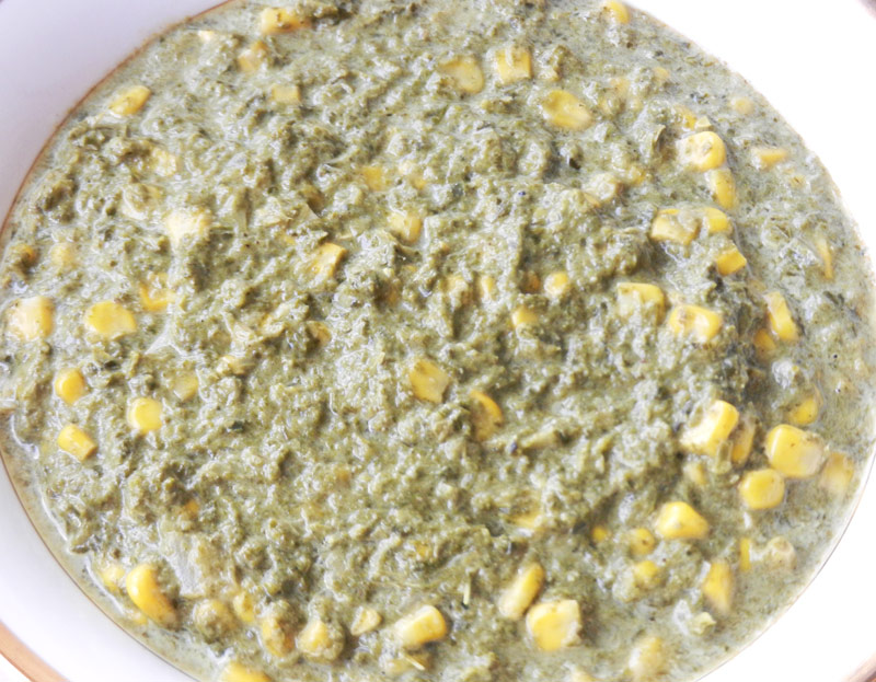 Creamy Kale and Corn | Recipe Treasure