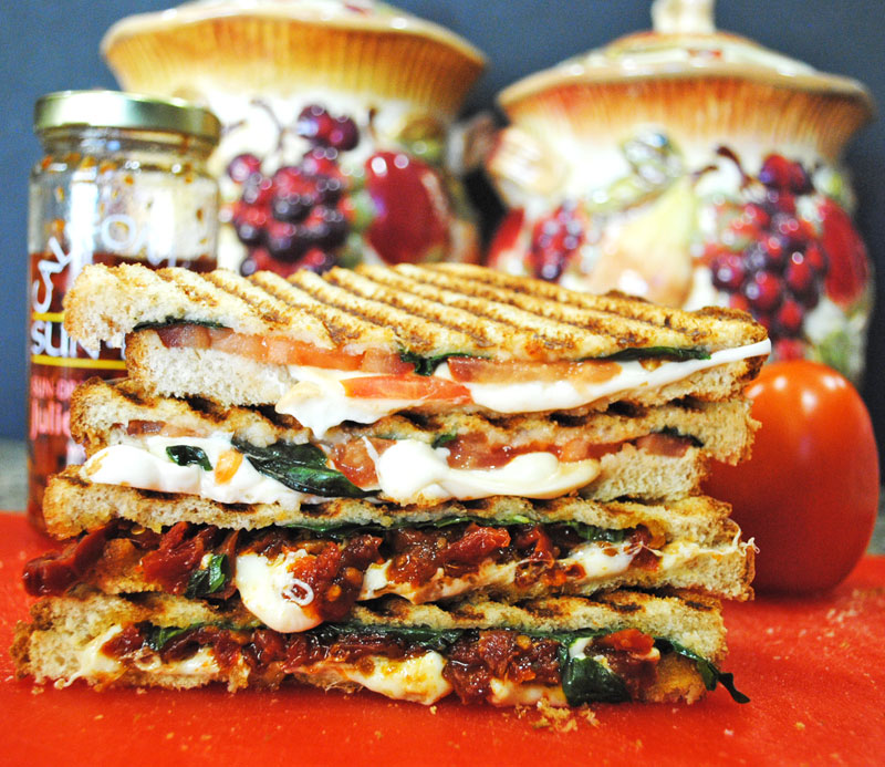 Grilled smoked mozzarella tomato and basil sandwich recipe treasure grilled smoked mozzarella tomato and basil sandwich recipe treasure forumfinder Images
