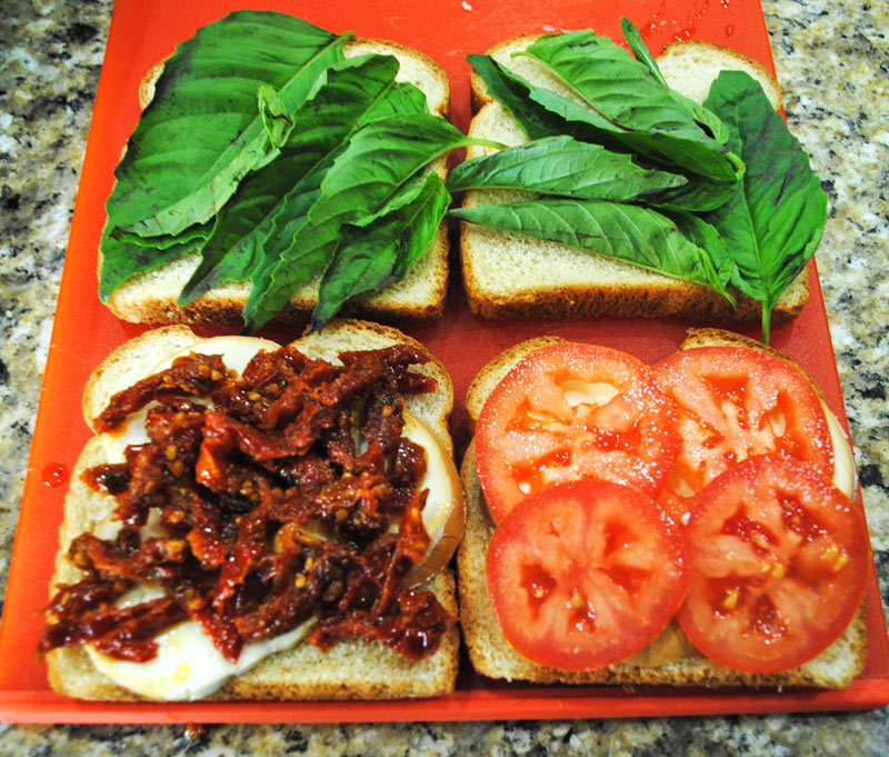 Grilled Smoked Mozzarella, Tomato, and Basil Sandwich | Recipe ...