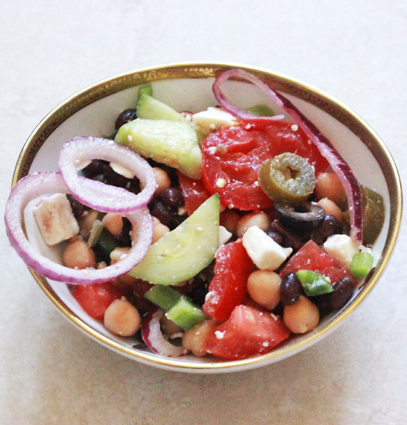 Black Bean and Chickpea Salad Recipe