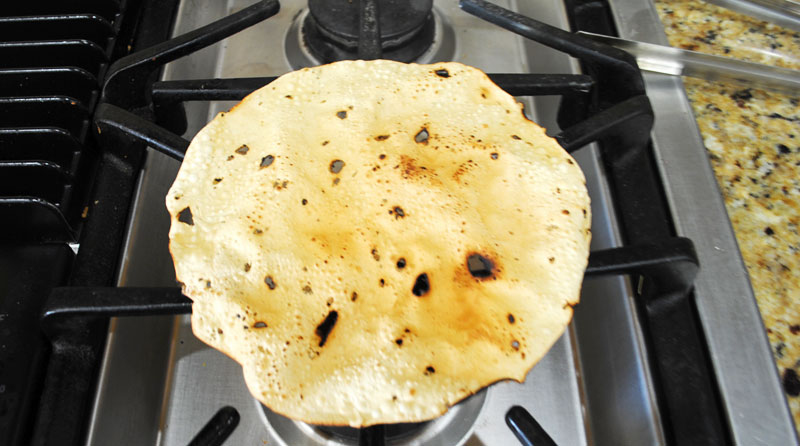 Masala Papad Recipe - Flip Over Flame - Recipe Treasure